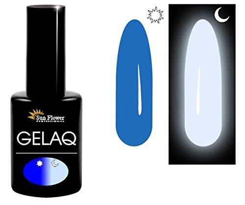 Glow-in-the-dark-Nagellack Gelaq 050, UV-/LED-Soak-Off-Gel-Nagellack, leuchtet im Dunkeln, hergestellt in der EU von Sun Flower