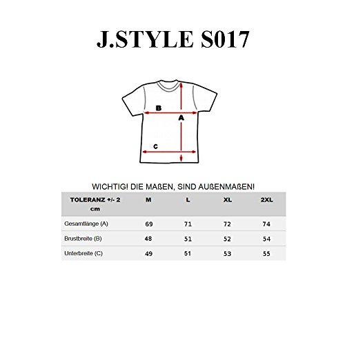 BOLF Herren T-Shirt Tee Kurzarm Rundhals Slim Fit Print Classic Party J.STYLE S017 Schwarz