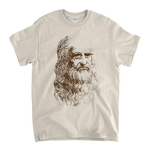 Leonardo da Vinci T shirt - Self Portrait Sketch -