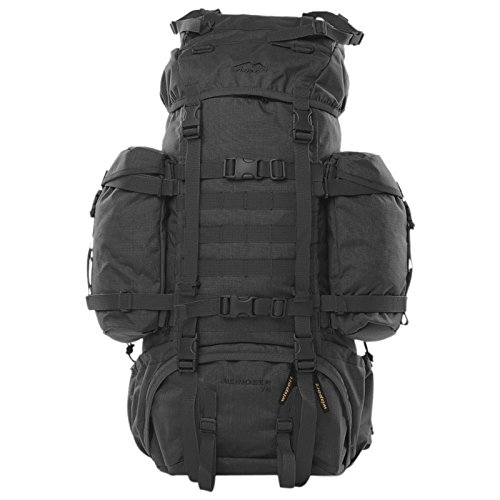 WiSPORT® REINDEER Rucksack 75 Liter | Cordura | Militär | Marschrucksack | Wandern | Outdoor | Camping, Tarnung:black