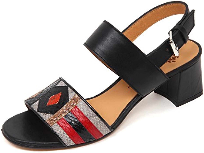 D0694 sandalo donna MALIPARMI ART PATCH scarpe nero scarpe woman | Clienti In Primo Luogo  | Scolaro/Signora Scarpa