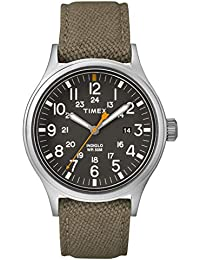 25f88f4d7470 Timex Reloj Analógico para Hombre de Cuarzo con Correa en Nailon TW2R46300