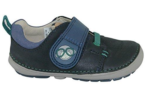 Clarks Softly Sid Fst Boys First Shoe 6 G Navy
