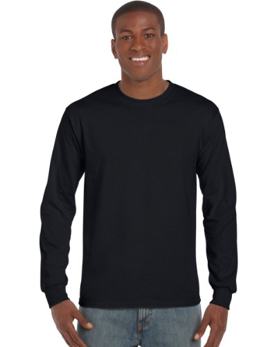 Gildan Ultra T-Shirt mit Rundausschnitt für Männer (M) (Schwarz) M,Schwarz