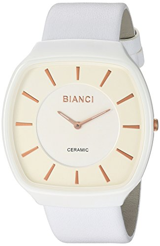 ROBERTO BIANCI WATCHES Women's 'Vitalia' Quartz Ceramic and Silicone Casual Watch, Color:White (Model: RB28701)