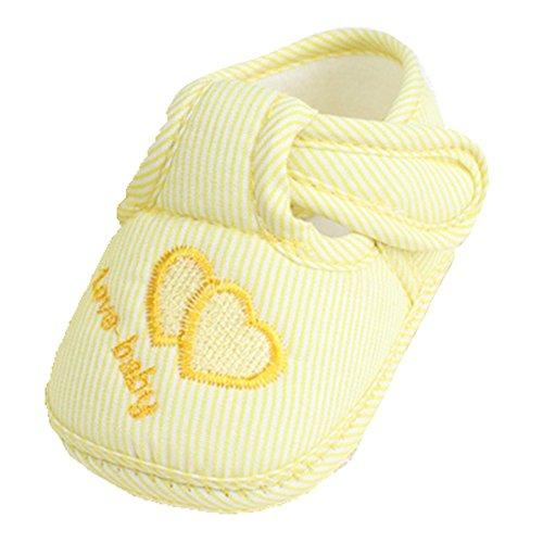 Ohmais Enfants Chaussure Bebe Garcon Fille Premier Pas Chaussure premier pas bébé Sandale Jaune cœur