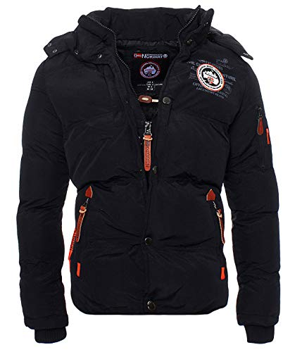 Geographical Norway Herren Winter Steppjacke Parka Verveine Kapuze black L