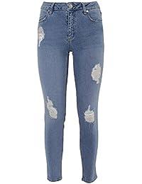 2Nd One Femme 10522084BL Bleu Coton Jeans