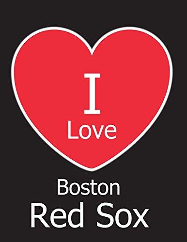 I Love Boston Red Sox: Black Notebook/Journal for Writing 100 Pages, Boston Red Sox Baseball Gift for Men, Women, Boys & Girls por Kensington Press