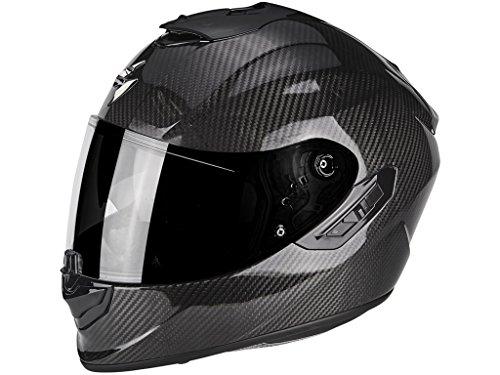 SCORPION Casque moto EXO 1400 AIR CARBON Solid, Noir, XL