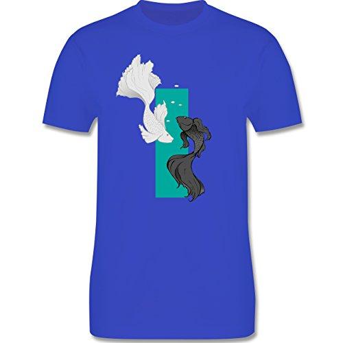 Sonstige Tiere - Fische Yin und Yang - Herren Premium T-Shirt Royalblau