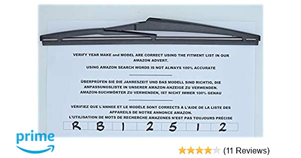 Exact fit Rear Wiper Blade 30cm RB12512
