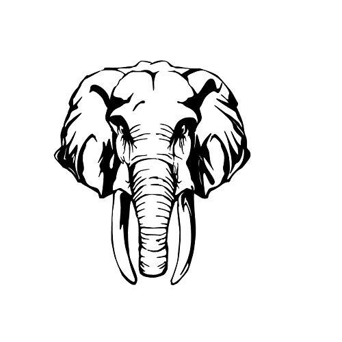 mlpnko Afrikanischer Tier Elefant Wandaufkleber Kindergarten entfernbares Vinyl Hauptdekoration Abziehbild 42x48cm