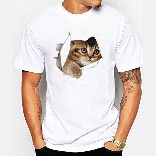Preisvergleich Produktbild T-Shirt 3D T-Shirt 3D S Unisex Sommer Männer T-Shirt Kurzarm 3D Katze T-Shirt Männer