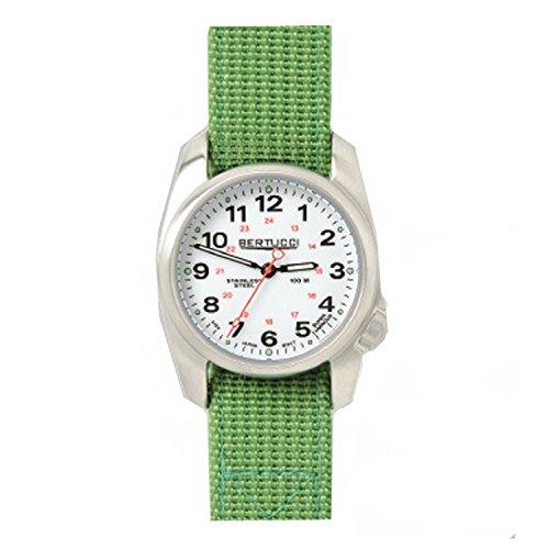Bertucci 10016da uomo in acciaio inox Giungla in nylon verde quadrante bianco Smart Watch