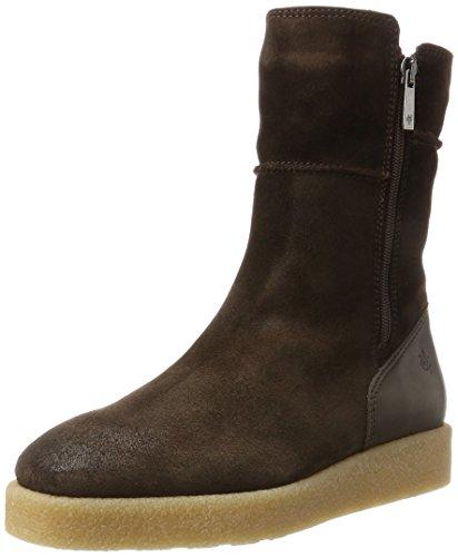 Marc O\'Polo Damen Flat Heel Bootie 70914296001304 Schlupfstiefel, Braun (Dark Brown), 40 EU