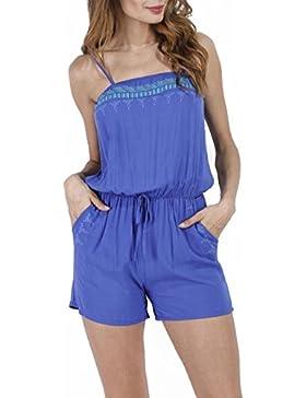 Smalltile Estivo Donna Tutine Intere Bohemian Fiori Pantaloncini Rompers Jumpsuits con Coulisse Moda Sexy Giarrettiere...