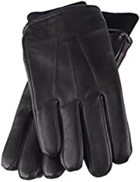 Heat Holders - Mens Black Thermal Leather Gloves with Heatweaver Insulation Liner Gift Box