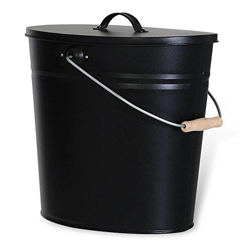 HC-Handel 924064 Ascheeimer mit Deckel 15 Liter