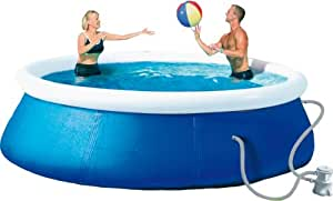 Quick up pool set mit pumpe und plane 350x76 cm amazon for Pool selbstaufstellend