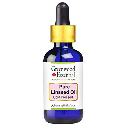 Greenwood Essential reines Leinöl (Linum usitatissimum) 100{c37e40bbd1200a65482e0ce904676cfb1b70f3d26c04649942b5a669c9f16a50} natürlicher therapeutischer Grad kaltgepresst 15ml (0.50 oz)