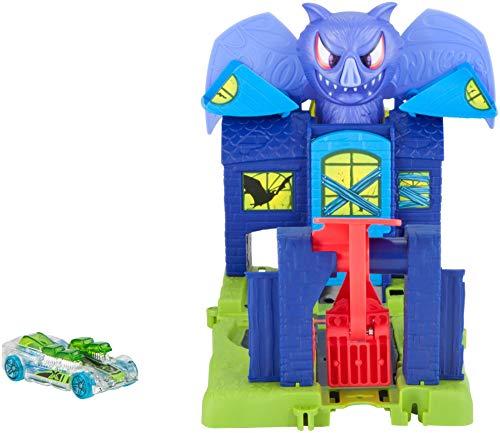 Hot Wheels - Ataque en la mansión del murciélago, pista de coches  (Mattel FNB08)