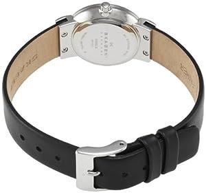 Skagen Slimline 358SSLB - Reloj de mujer de cuarzo, correa de piel color negro de Skagen