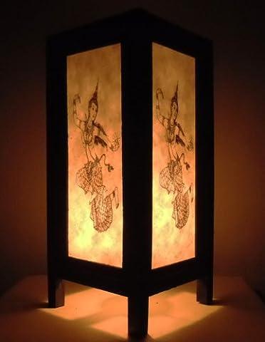 Rare Asie thaï Lampe de Tables Bouddha Style Chevet Goddess