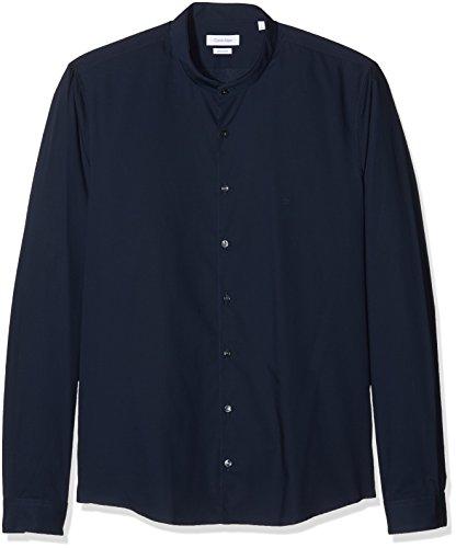 Calvin klein elba extra slim fit, camicia formale uomo, blu (midnight blue 463), large