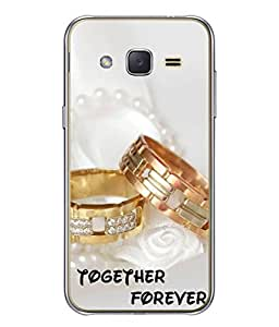 PrintVisa Designer Back Case Cover for SANSUNG GALAXY J3(2016) (together forever beautiful engagement rings)