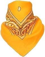 Bandana Kopftuch / Halstuch mit Paisley Muster oder Uni in 75 Farben 100% Baumwolle