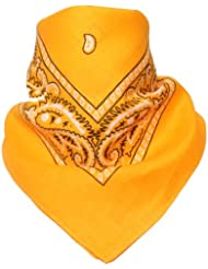 Bandana avec Motif Paisley jaune orange