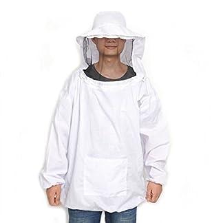 CHENGYIDA Professional Beekeeping Suit Jacket Veil Smock Dress 16