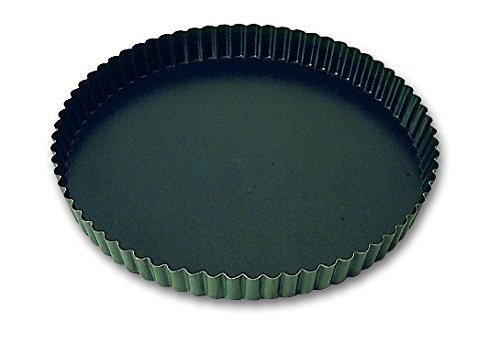 Tourtière cannelée professionnelle Exopan à Fond fixe 230 mm de diamétre