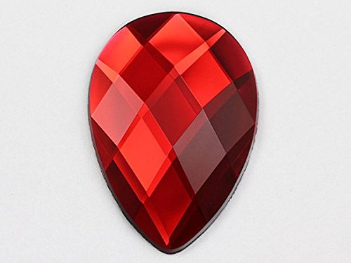 62x 42mm rot Ruby H103Extra Groß Acryl Tropfenform Gems Hohe Qualität Pro Grade einzeln (Kostüm Ruby Gem)