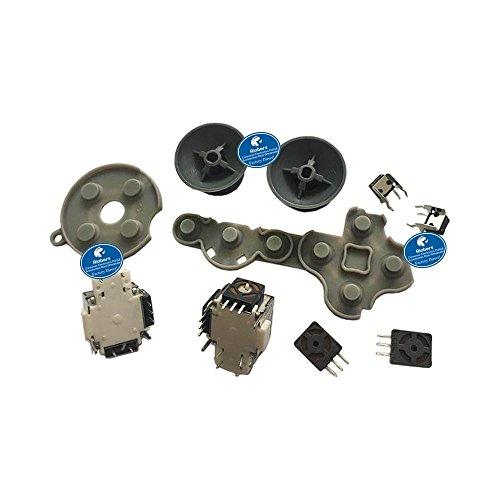 Rinbers 10 in 1 3D Joystick Axis Analog Sensor Modul + 3D Pilz Kunststoff Kappe + LT RT LB RB Tasten + leitfähige Gummiknopf Kontaktpad D-Pad Ersatzteil für Xbox 360 Controller