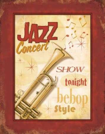 New Orleans Jazz I von Pela Design Kunstdruck auf PAPIER - Klein (33 x 42 cms )