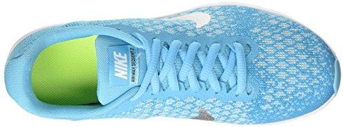 Nike Air Max Sequent 2 Gs, Scarpe da Ginnastica Bambina Turchese (Chlorine Blue/Mtlc Silver/Polarized Blue/Glacier Blue/White/Volt)