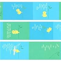 Nastro adesivo coprente mt Washi di design blu verde uccelli animali