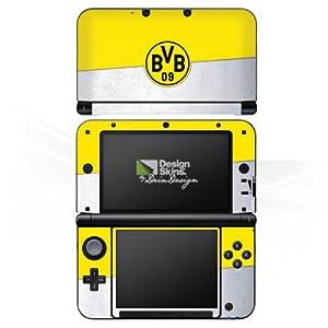DeinDesign Skin kompatibel mit Nintendo 3 DS XL Folie Sticker Offizielles Lizenzprodukt Borussia Dortmund BVB