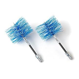 BARETTO – 2 cepillos de repuesto – Cepillos FLEX 80mm, Cepillo de limpieza de estufas de pellets y tubos de humos