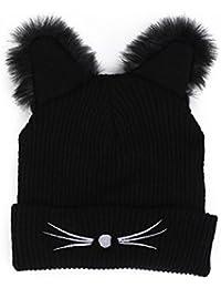 eef7dc475c1b Sisit 2 en 1 design, c est un bonnet et une écharpe. Style unique et Beanie  colorée pour femme. Le chapeau   l écharpe d hiver de rayure peut…