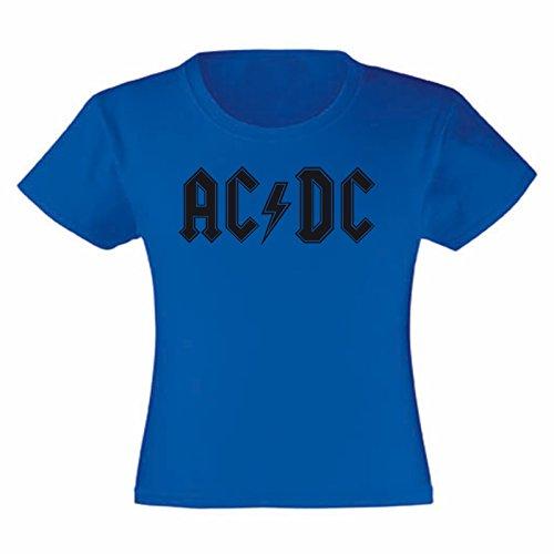 Art T-shirt, Maglietta ACDC, Bambina, Blu, 12-13 Anni