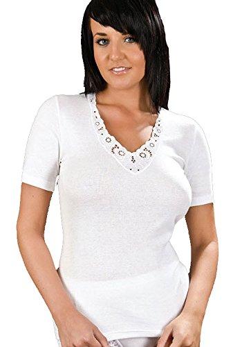 Pack de 2 Maillots Manches Courtes Ultra Confort Pour Femme 100% Coton, Diverses Couleurs & Tailles Noir