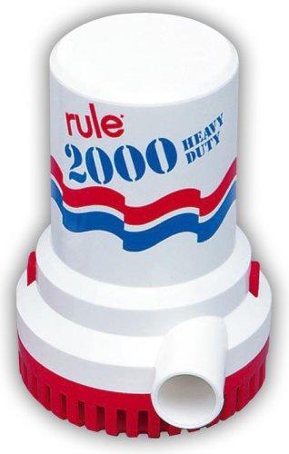 Regla Bomba de Agua Marina, 2000 galones por Hora, no automática, 12, Blanc y Azul
