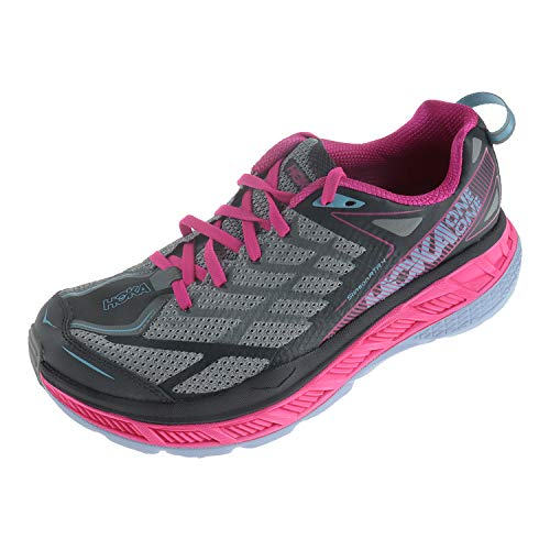 Hoka One W Stinson ATR 4 Asphalt Griffin 1016789 - Scarpe da Corsa da Donna, Multicolore (Cherries Jubilee Purple Passion), 42 EU