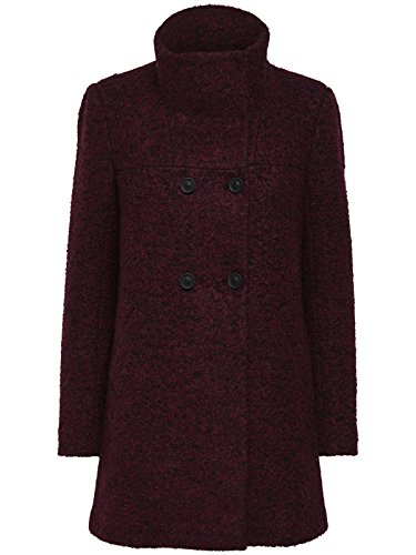Only Onlsophia Noma Wool Coat Cc Otw, Giubbotto Donna Rosso (Port Royale Detail:melange)