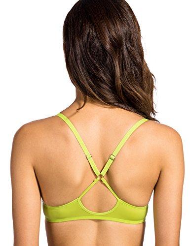 Dobreva Damen Vorderverschluss BH - Push-Up,mit Bügel und Einlagen Grün