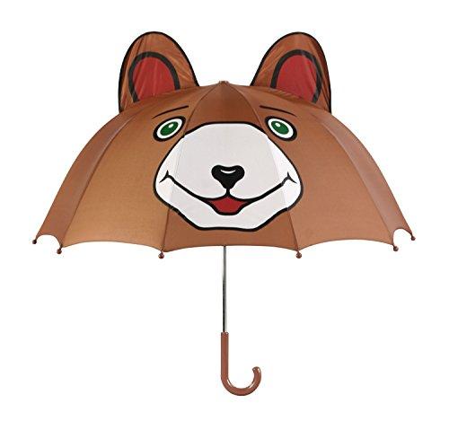 Kidorable Original Gebrandmarkt Kinder Regenschirm Bär für Jungen, Grün, Eine Größe , Bear