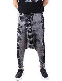 ELLAZHU Homme Hiver Pantalon Harem Lâche Elastique Tour De Taille Taille Unique GYM22 A